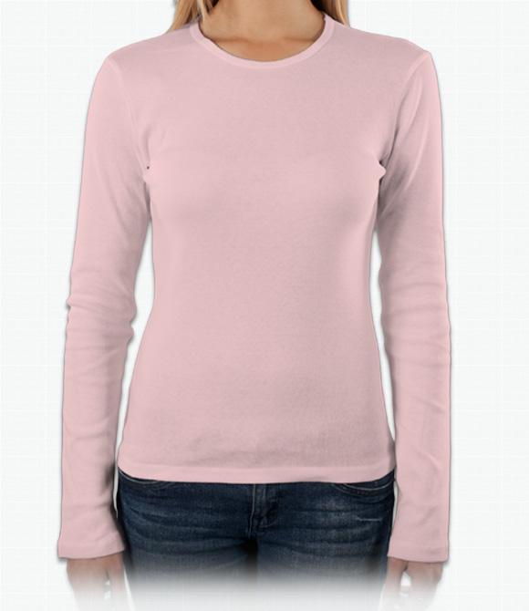 Bella Girls Baby Rib Long-Sleeve T-Shirt