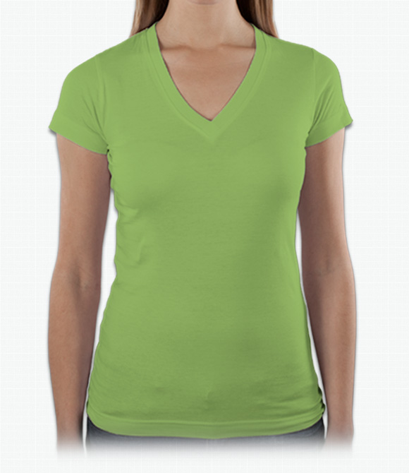 LAT Ladies Junior Fine Jersey V-Neck