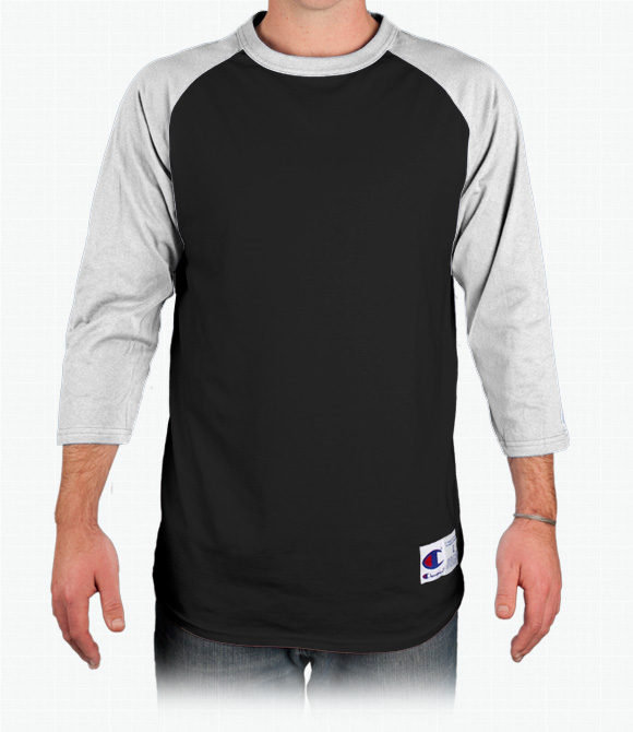 Champion Tagless Raglan Baseball T-Shirt