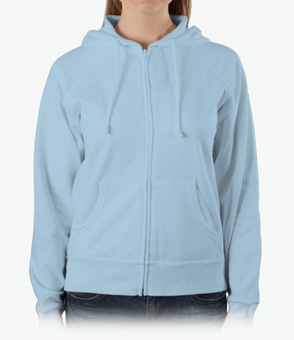 Bella Ladies 7.5 oz. Full-Zip Raglan Hoodie