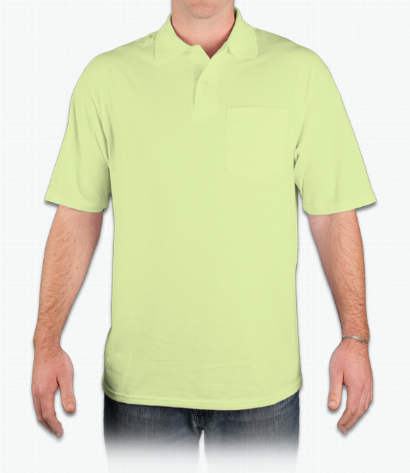 Jerzees 5.6 oz. 50/50 Jersey Pocket Polo with SpotShield
