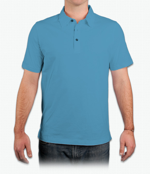 Canvas Mens 4.2 oz. Short-Sleeve Three-Button Jersey Polo