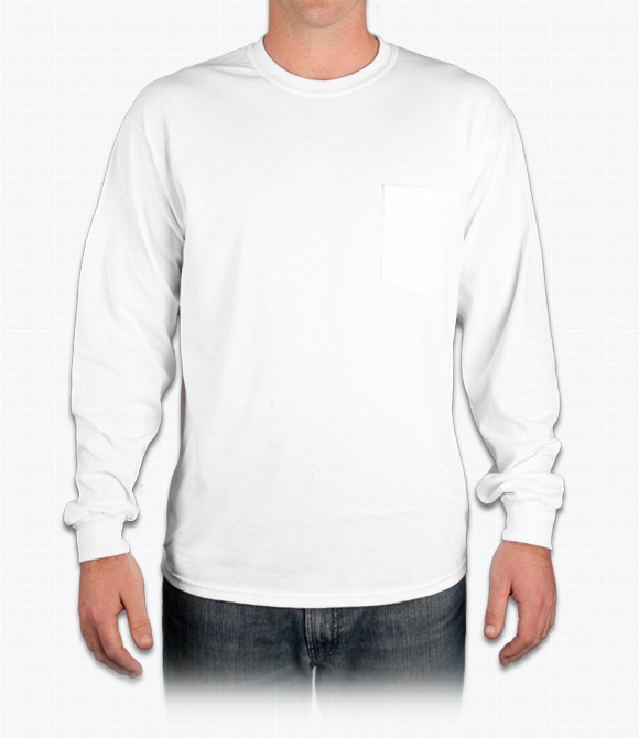 Gildan Ultra Cotton Long-Sleeve T-Shirt w/ Pocket